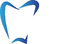 Stomatolog Poznań Winogrady logo białe